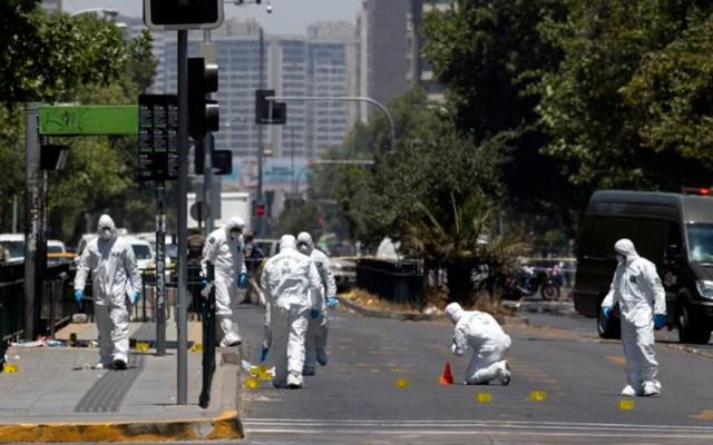 Explosión en parada de autobús deja cinco heridos en Chile - Foto de Claudio REYES / AFP