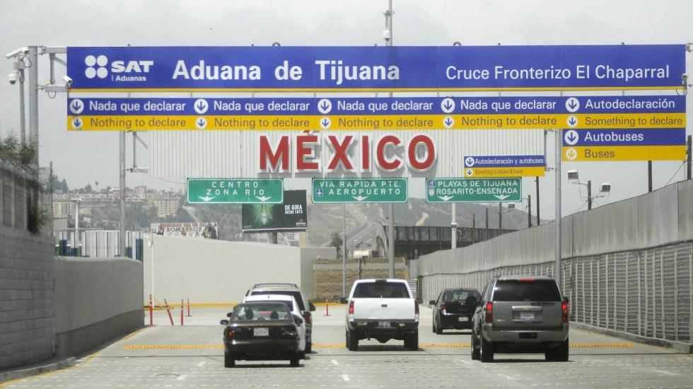 Cierre de la frontera sería muy delicado: Concamin - Frontera Norte de Tijuana. Foto de Notimex