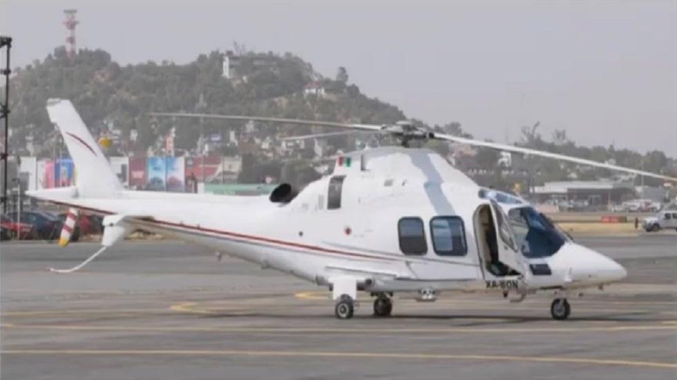 Helicóptero en el que viajaban las víctimas. Foto de SCT