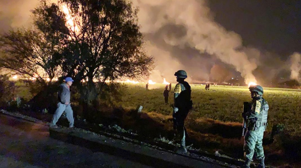 IMSS e ISSSTE atenderán a heridos por explosión en Hidalgo - Foto de Sedena/AFP