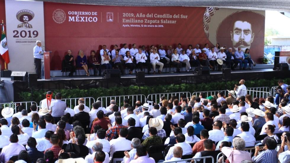 """Gobierno de México realiza """"homenaje"""" al asesinato de Zapata - Foto de Notimex"""
