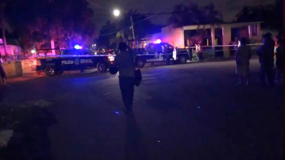 Escena del crimen en Cancún. Captura de pantalla