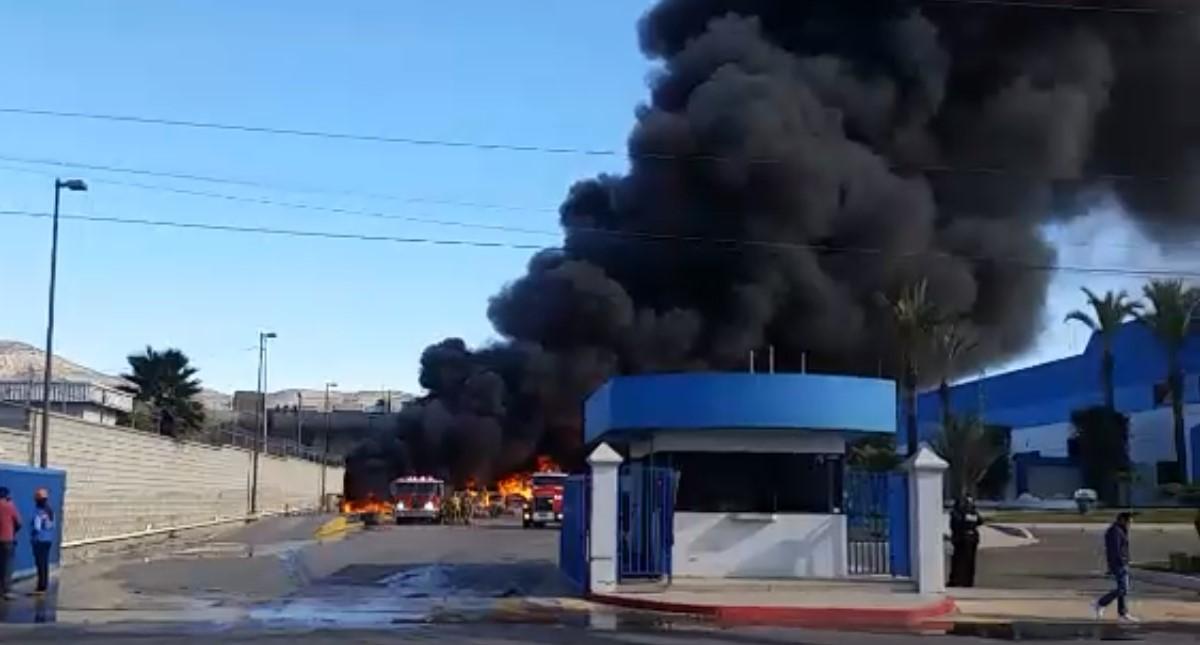 Incendio en B&B Plastics. Captura de pantalla