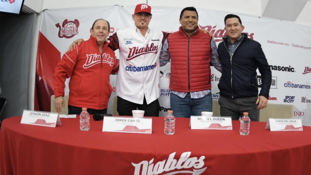 Diablos Rojos del México se refuerza con Jorge Cantú - Foto de @DiablosRojosMX