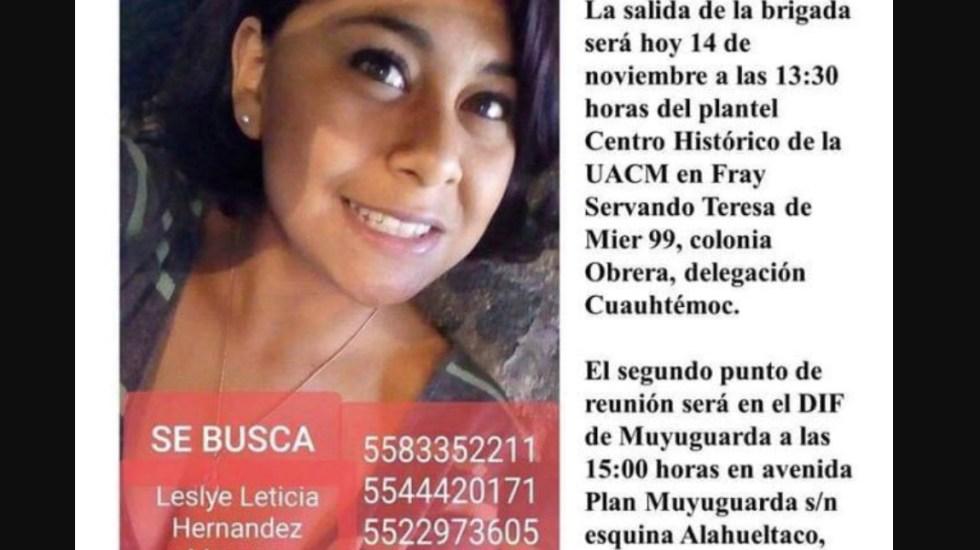 Encuentran cuerpo de joven desaparecida en Xochimilco