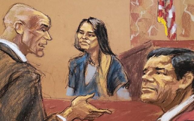 Revelan carta del 'Chapo' a Lucero Sánchez desde prisión - Lucero Sánchez en juicio contra El Chapo. Foto de Internet
