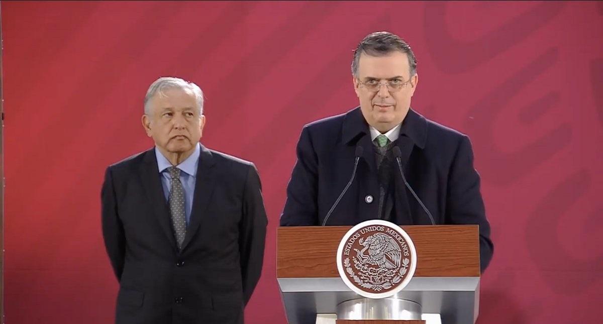 Marcelo Ebrard en conferencia de prensa de AMLO. Captura de pantalla