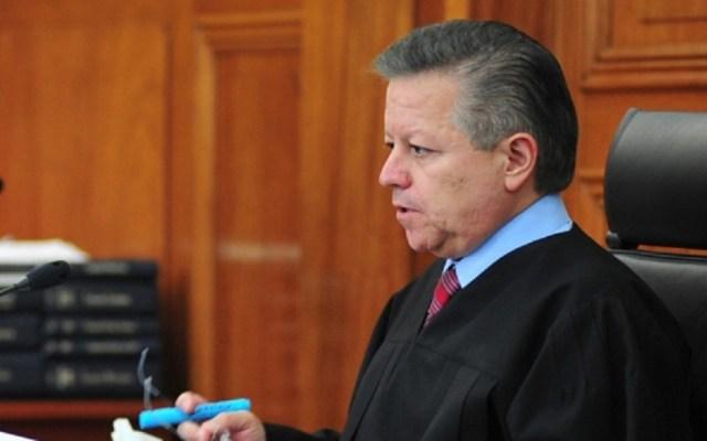 SCJN llama a la defensa de la autonomía y austeridad del Poder Judicial - Ministro presidente de la SCJN, Arturo Zaldivar. Foto de Notimex