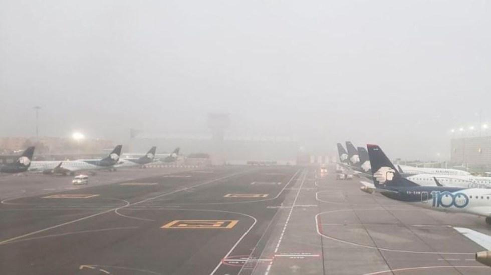 Banco de niebla afectó 156 vuelos en el AICM - Foto de ForoTV