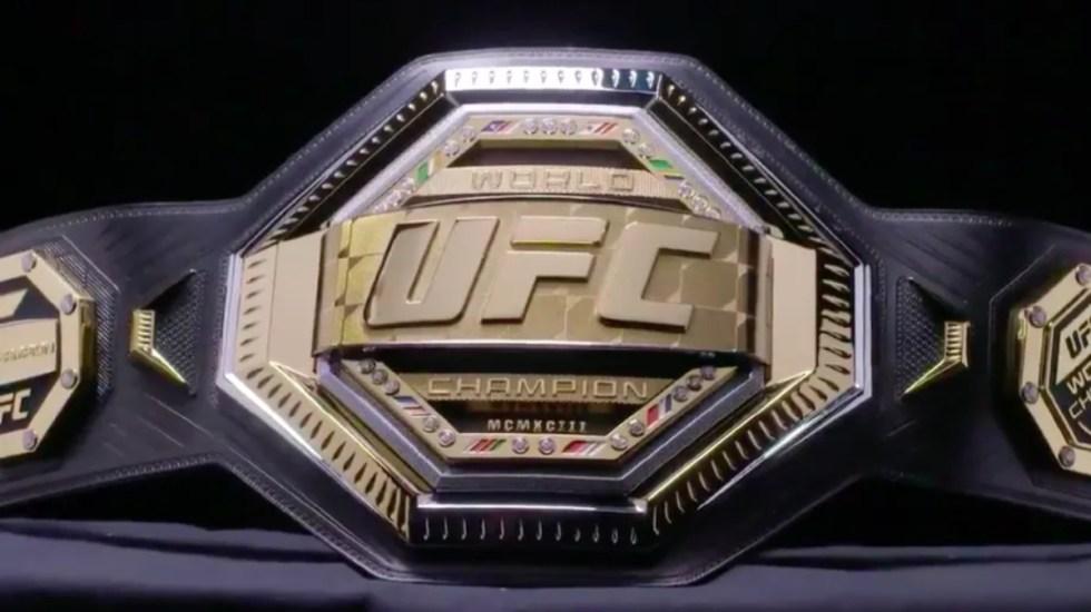 Nuevo cinturón de la UFC se entregará este domingo - nuevo cinturón ufc