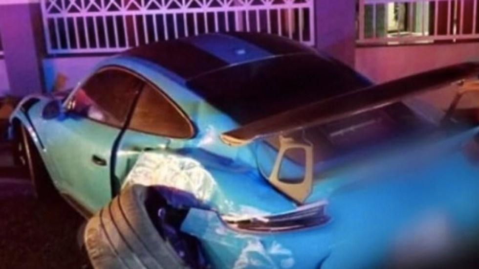 Ozuna sufre accidente automovilístico - Foto de Twitter