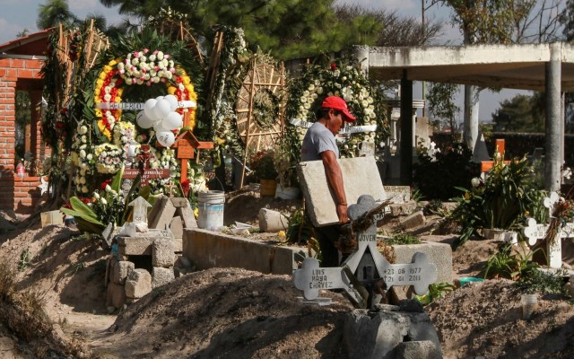 Suman 118 muertos por explosión en Tlahuelilpan - Panteón de Tlahuelilpan. Foto de Notimex