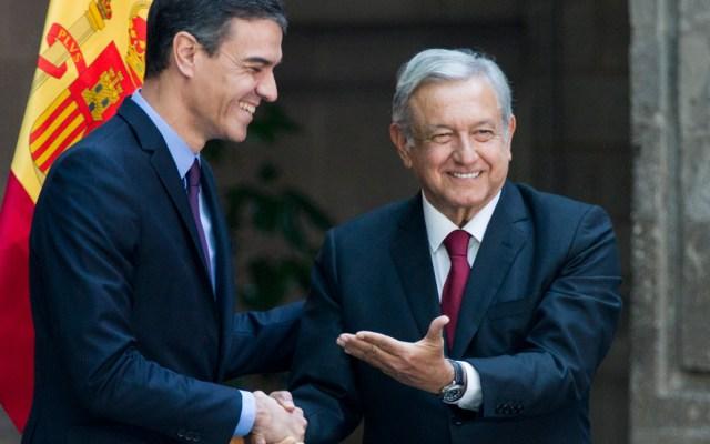López Obrador recibe al presidente del Gobierno de España - Foto de Notimex