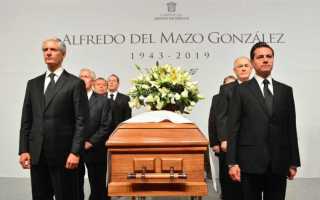 Peña Nieto participa en guardia de honor a Alfredo del Mazo - Foto de Milenio