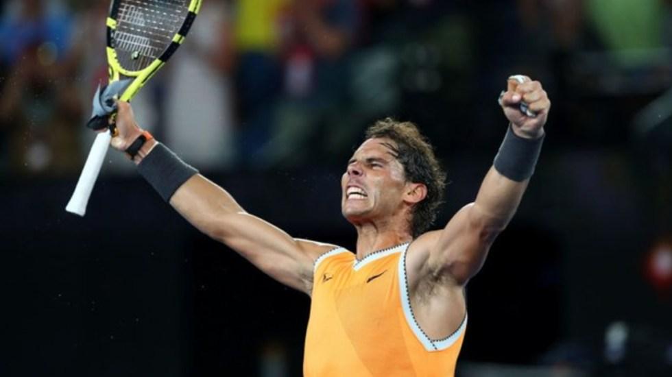 Rafael Nadal avanza a la final del Abierto de Australia - Foto de Twitter