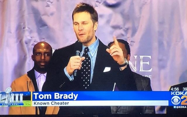 Televisora despide a empleado por hacer broma de Tom Brady en gráfico - Foto de @nvereb