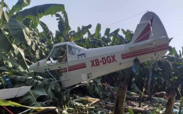 Avión pequeño se desploma en Chiapas - Foto de @PortadaInforma