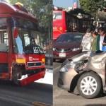 Choque de Metrobús deja cuatro mujeres lesionadas