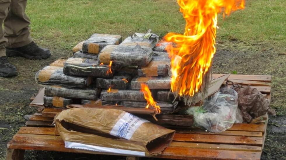 Incineran 29 kilos de cocaína asegurados en un buque en Tuxpan - Foto de Quadratín