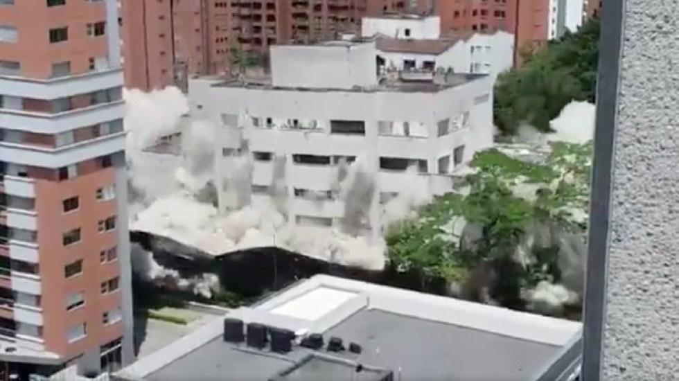 #Video Demuelen fortín que perteneció a Pablo Escobar - demuelen fortín de pablo escobar en medellín