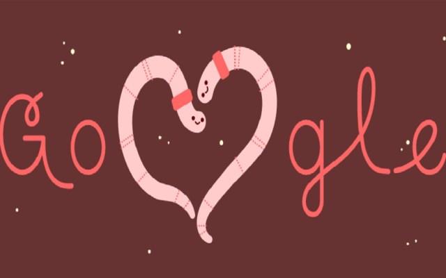Insectos celebran al amor en doodle de Google - Día de San Valentín 2019. Foto de Google