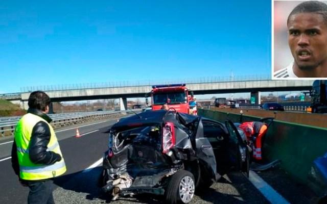 Douglas Costa resulta ileso tras accidente automovilístico - Foto de @CorriereTorino