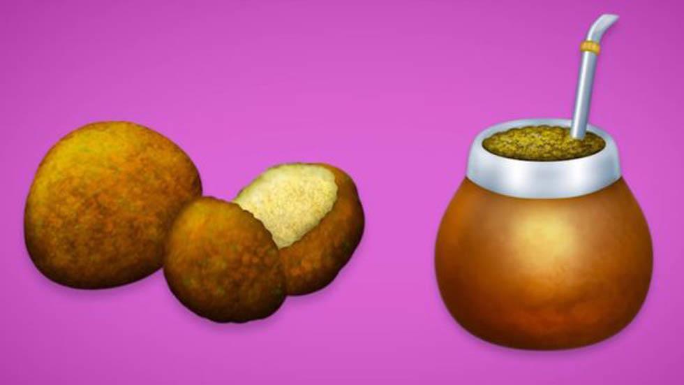 El falafel y el mate serán dos de las principales novedades de emojis este 2019. Foto de Emojipedia