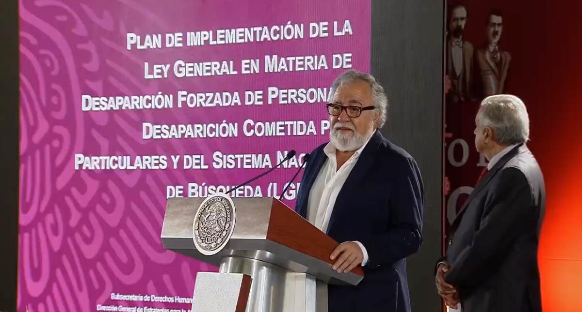 AMLO y Encinas anuncian Plan Nacional de Desaparición Forzada