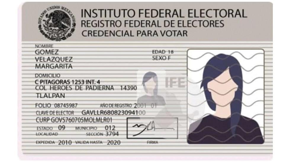 INE alista licitación para nueva credencial de elector - Foto de Twitter