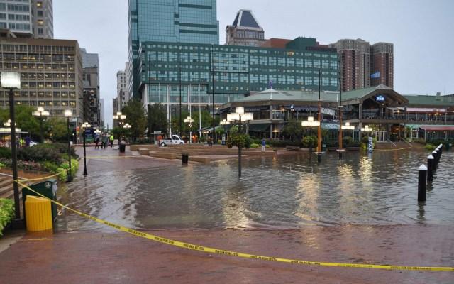 Eventos 'microextremos' por cambio climático también afectan la economía - Inundación en Annapolis. Foto de Baltimore City