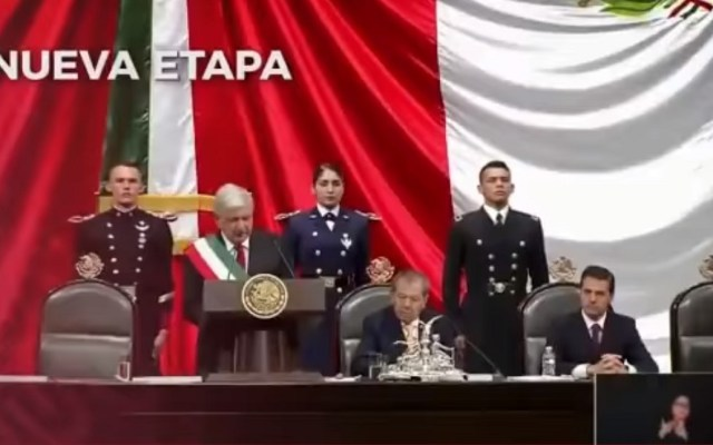 Sectur aclara que video eliminado no era spot - Investidura de López Obrador en video de la Sectur. Captura de pantalla
