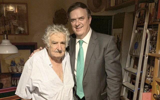 Marcelo Ebrard se reúne con expresidente uruguayo José Mujica - Foto de @SRE_mx