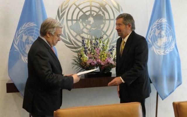 Juan Ramón de la Fuente se acredita como representante de México ante la ONU - Foto de SRE