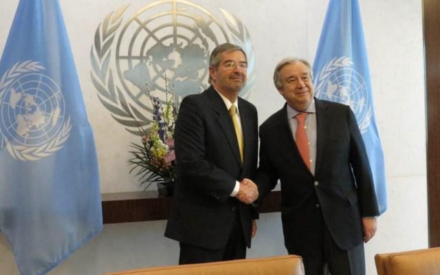 Celebra António Guterres que PND contemple objetivos de la Agenda 2030 - Foto de SRE