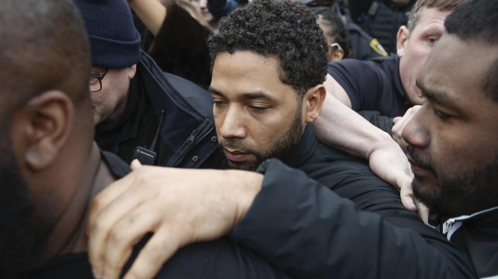Detienen a Jussie Smollett por fingir ataque racista - Foto de AP