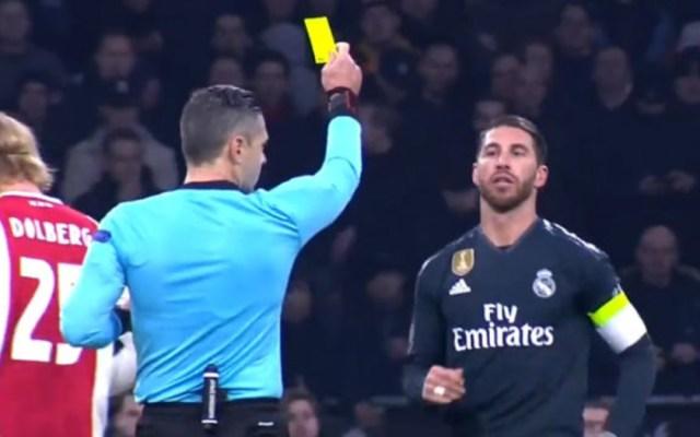 UEFA suspende dos partidos a Ramos por forzar amarilla contra el Ajax - Sergio Ramos amarilla suspensión UEFA