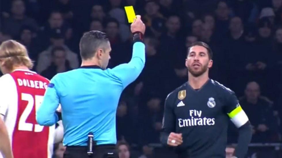 UEFA investiga a Sergio Ramos por forzar la amarilla contra el Ajax - Sergio Ramos amarilla suspensión UEFA