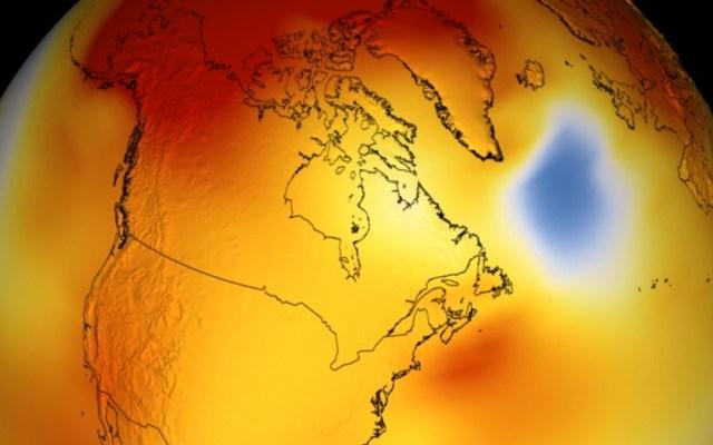 NASA confirma que el 2018 fue el cuarto año más caluroso - Mapa de temperaturas en el mundo de 2014 a 2018. Foto de NASA