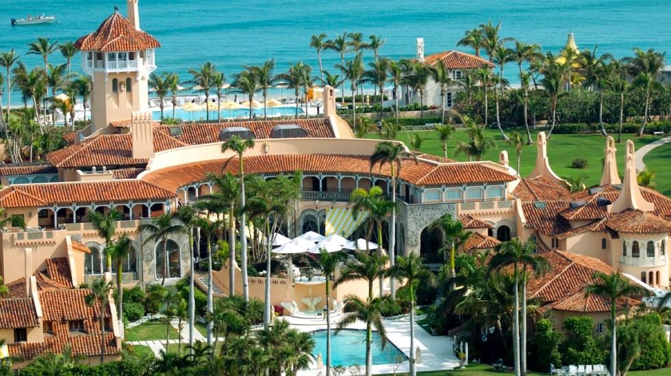 La ciudad de Palm Beach decidirá en abril si Trump puede vivir en Mar-a-Lago - Club privado Mar-a-lago. Foto de USA Today