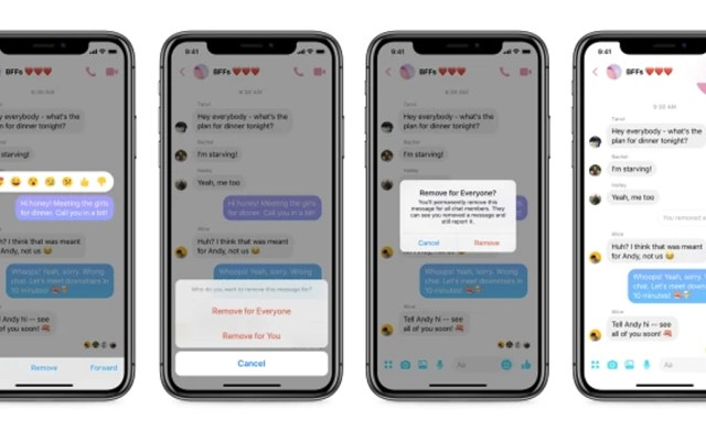 Messenger activa función 'Eliminar para todos' - Foto  de TechCrunch