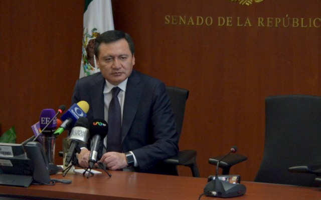 Osorio Chong llama a gobierno de AMLO a asumir su responsabilidad - Miguel Ángel Osorio Chong, coordinador de los senadores del PRI. Foto de Notimex