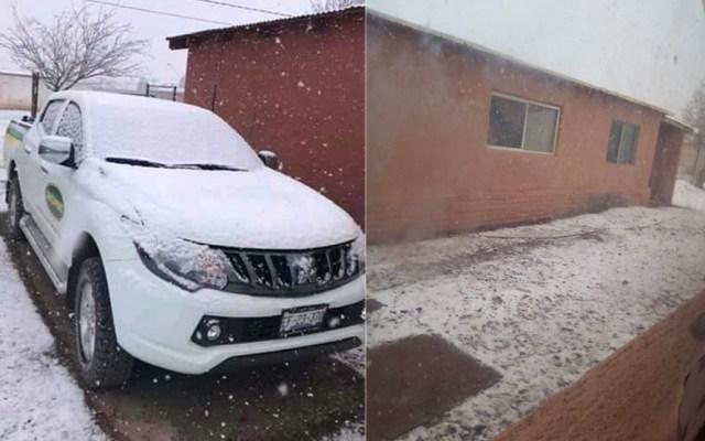 #Video Azotan nevadas en el norte del país por Frente Frío 39 - Foto de @ClimaChihuahua1