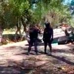 Persecución deja dos detenidos en Texmelucan - Captura de pantalla