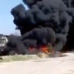 #Video Explota pipa cargada de combustible al intentar ganarle al tren - Captura de pantalla
