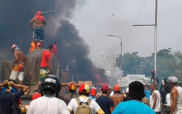 Incendio de camión con ayuda humanitaria para Venezuela fue accidental - Foto de El Nacional