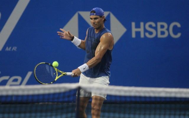 Rafael Nadal luce en práctica y se declara listo para jugar en Acapulco - Foto de Notimex