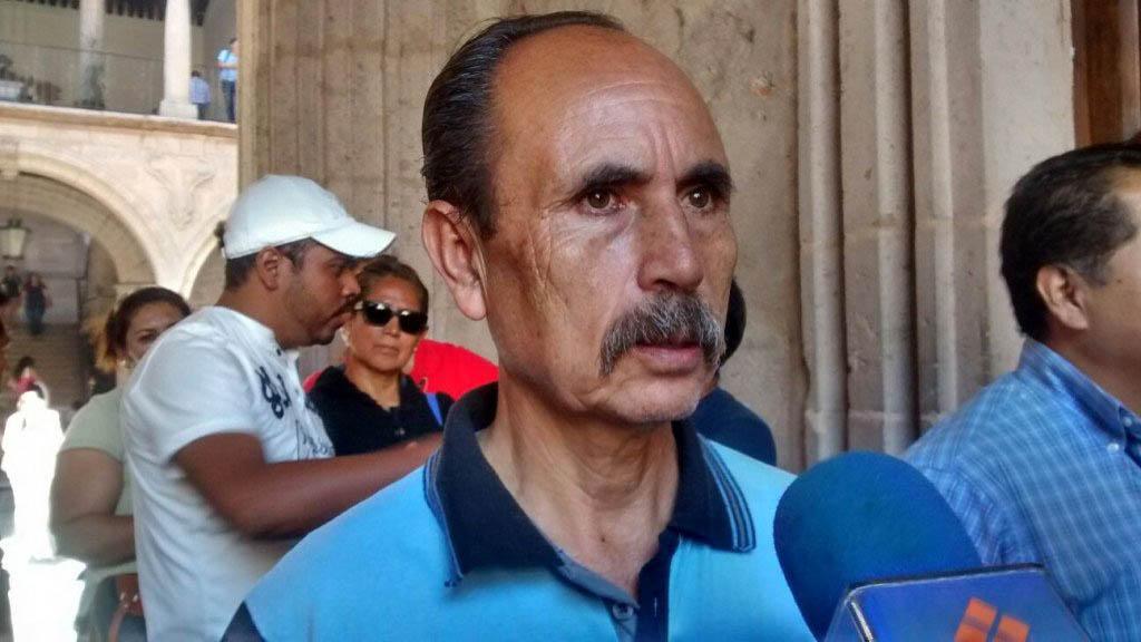 Salvador Almanza de la CNTE. Foto de Quadratín
