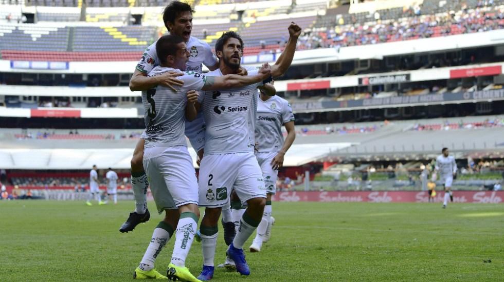 Santos Laguna ganó a Cruz Azul, quien ya tiene tres juegos sin ganar - Foto de Mexsport