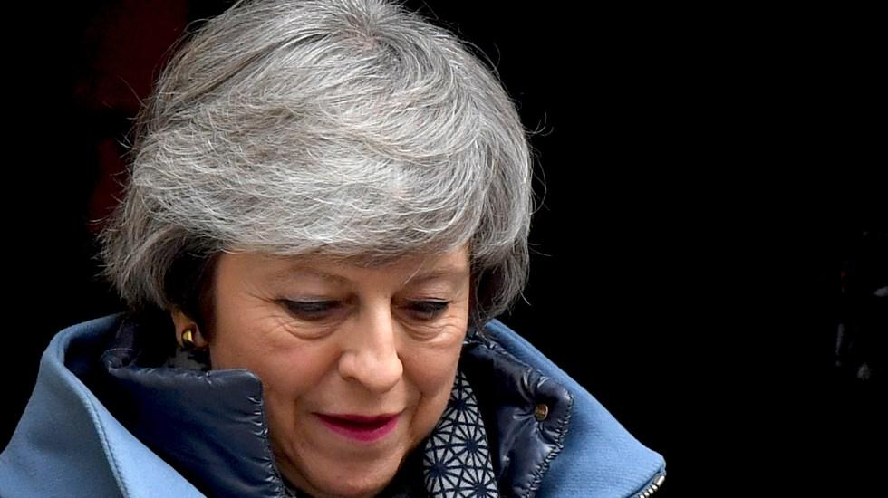 Parlamento rechaza plan de Theresa May para Brexit - Theresa May. Foto de BEN STANSALL / AFP