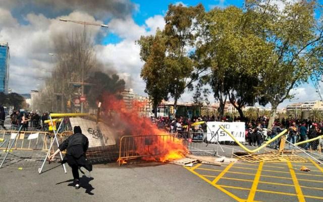 Protesta contra acto de ultraderecha deja cinco heridos en Barcelona - Protestas en Barcelona